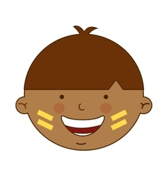 Indian boy character icon vector