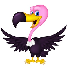 Cute vulture cartoon vector