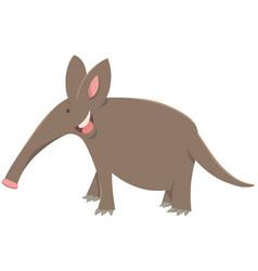 cartoon aardvark animal character vector image