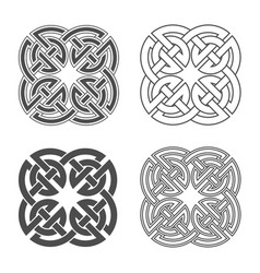 Celtic knot ethnic ornament vector