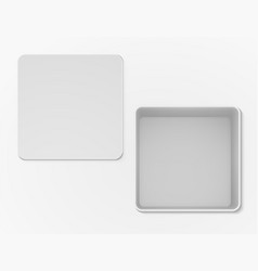 White open empty box top view vector