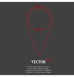 Map pointers flat modern web button and space for vector