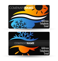 Business card air conditioning vector