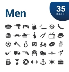 Men icons vector