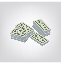 Pack of dollars vector