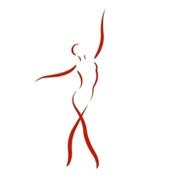 Sketched dancing woman vector
