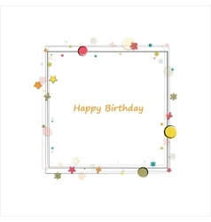 Happy birthday frame vector