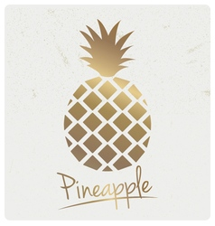Gold foil pineapple design vector