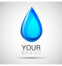 Blue Water drop abstract logo design vector image