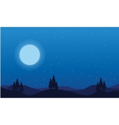 At night christmas landscape collection vector