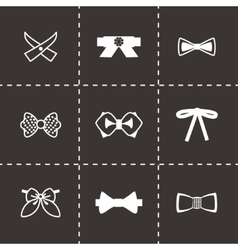 Bow ties icon set vector image vector image