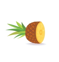 Cartoon pineapple on white background flat vector
