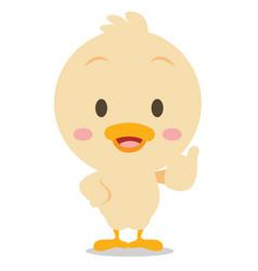 Character standing duck art vector