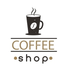 Coffee shop sign cafe symbol badge vector
