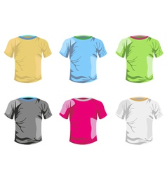 color T-shirt template vector image vector image