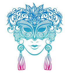 decorative mask silhouette vector image vector image