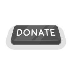 Donate button icon in monochrome style isolated on vector