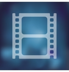 film icon on blurred background vector image vector image