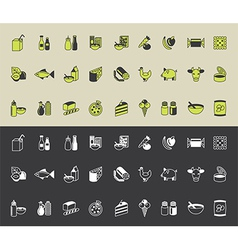 Icons foodsupermarket vector