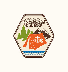 Logo of the christian camp vector