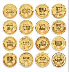 luxury sale golden labels collection vector image vector image