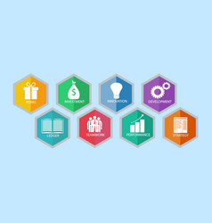 modern business idea with eight options vector image vector image