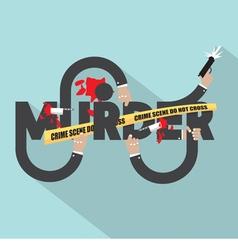 Murder Typography Design vector image vector image