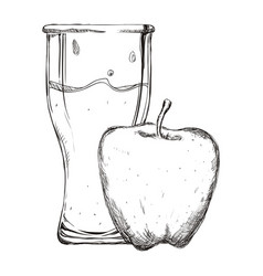 Refreshing fruit juice vector