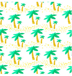 Seamless pattern with palms background with vector