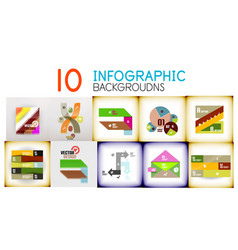 set of infographic backgrounds vector image