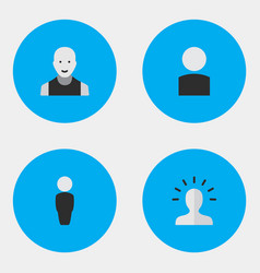 Set of simple person icons vector