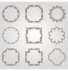 Set of vintage frames for You vector image vector image