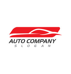 Speed auto car logo template icon design vector