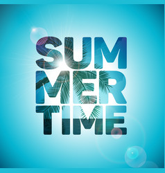 summer time holiday typographic on ocean vector image vector image