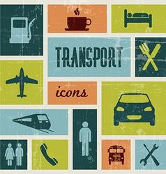 Vintage transport poster vector