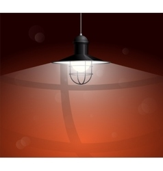 Ancient black lamp hanging big and empty space vector