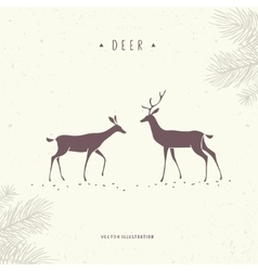 Stylized deer vector