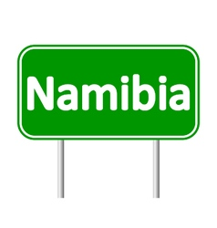 Namibia road sign vector
