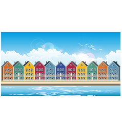 Colorful townhouses vector