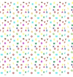 Seamless Letter Pattern vector image