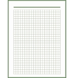 paper sheet with green squares vector image