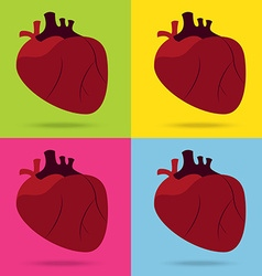 Health problem with heart disease isolated vector
