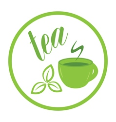 Tea time label vector