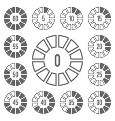 Timer icons set gray vector