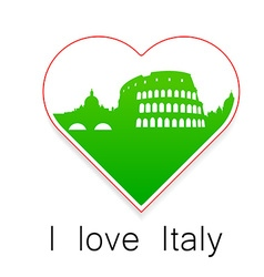 I love italy template vector