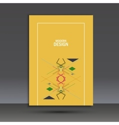 Templates geometric abstract design in a4 modern vector