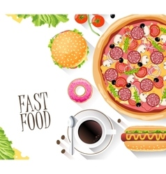 Fast food flat banner for decoration web-sites vector