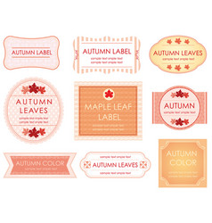 a set of various label in aut vector image vector image