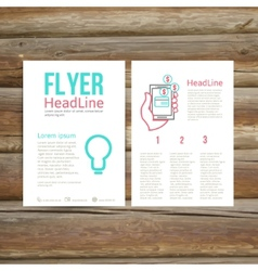 Abstract Brochure Flyer design online payment vector image vector image