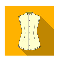 beige button-down shirt without sleeves for the vector image